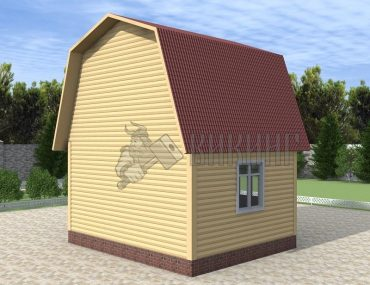 Деревянный дом 5x4 Гамма-7
