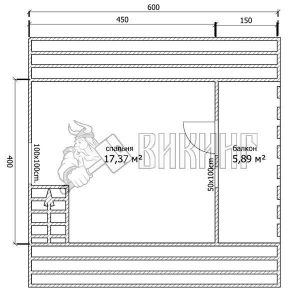 Баня 6x6 Б-14 (План мансарды)