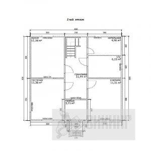 Скачки (План 1-го этажа)