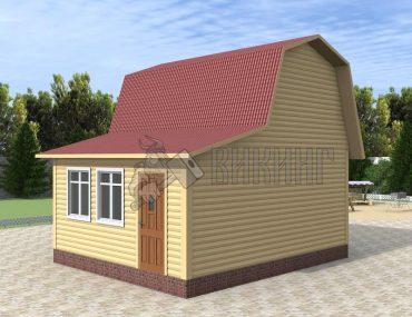Деревянный дом 5x6 Гамма-8