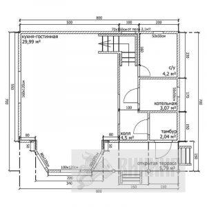 Большая Ижора (План 1-го этажа)