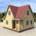 Деревянный дом 6,5x7 Гамма-9