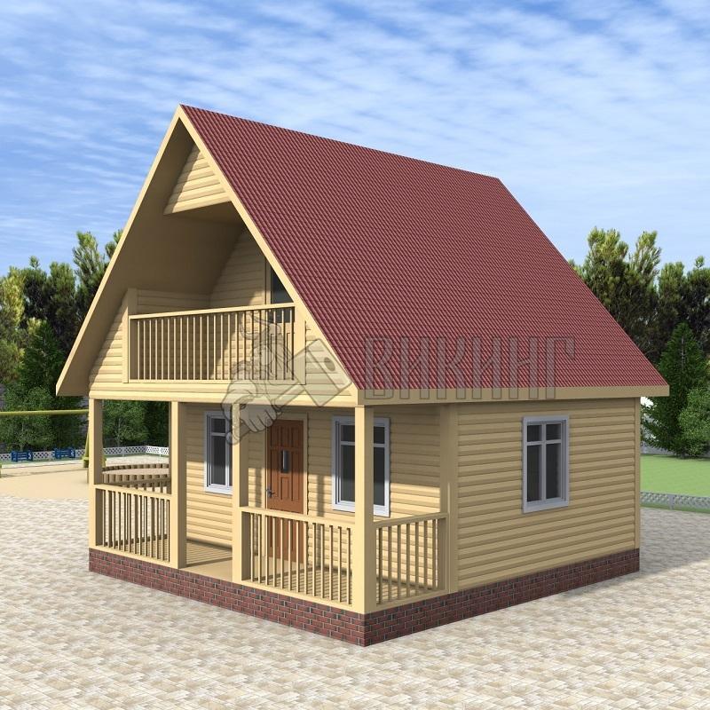 Деревянный дом 6x6 Гамма-11
