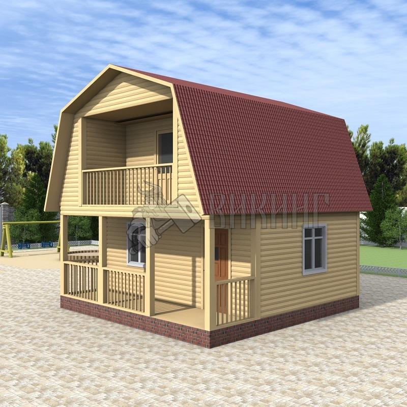 Деревянный дом 6x6 Гамма-12