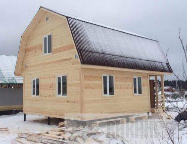 Каркасный дом с мансардой 6х8 «Кисколово»