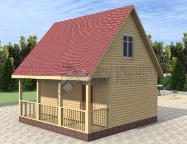 Деревянный дом 6x6 Гамма-13