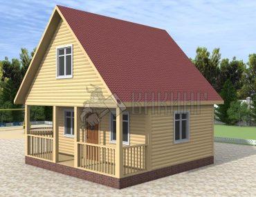 Деревянный дом 6x6 Гамма-14