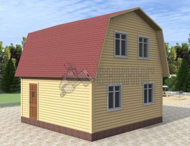 Деревянный дом 6x6 Гамма-15