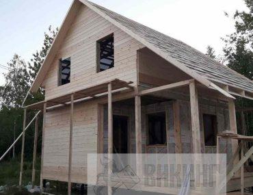 Полутораэтажный каркасный дом 6х8 «Прибылово»