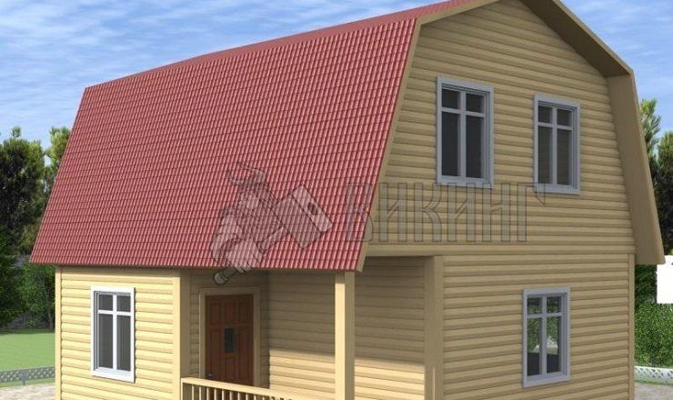 Деревянный дом 6x6 Гамма-16
