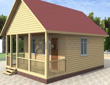 Деревянный дом 6x8