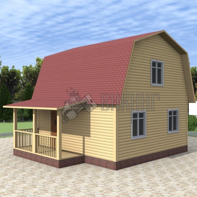 Деревянный дом 6x6 Гамма-17