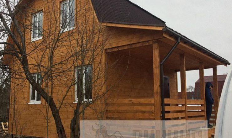 Каркасный дом с мансардой 6х6 «Михайловский»