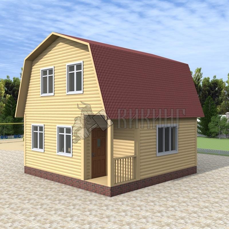 Деревянный дом 6x6 Гамма-18