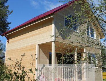 Полутораэтажный каркасный дом 6х6 «Синявино»