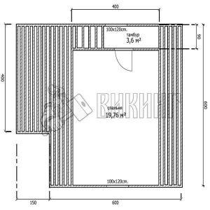 Деревянный дом 6x6 Гамма-19 (План мансарды)