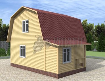 Деревянный дом 6x6 Гамма-19