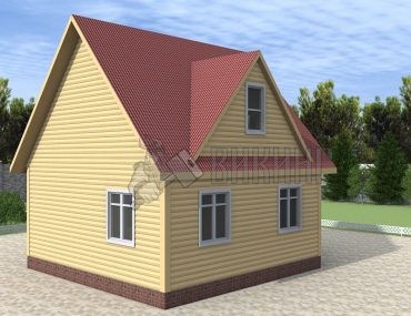 Деревянный дом 6x6 Гамма-21