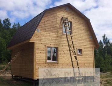 Каркасный дом с мансардой 6х8 «Гостилицы»
