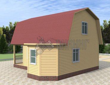 Деревянный дом 6x6 Гамма-22