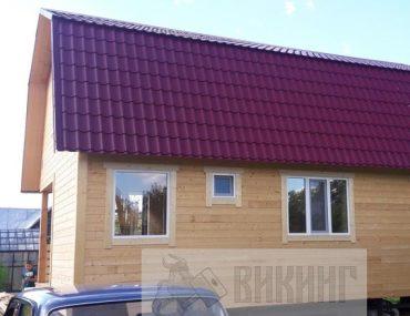Каркасный дом с мансардой 6х9 «Яхта»