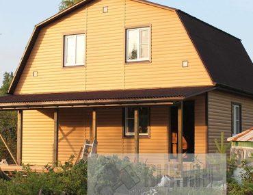 Каркасный дом с мансардой 6х8 «Дунай»
