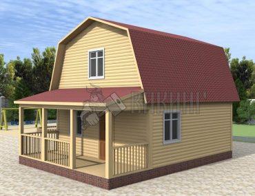 Деревянный дом 6x7,5 Гамма-24