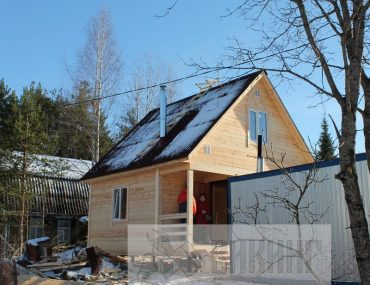 Каркасный дом с мансардой 6х6 «Петровское»
