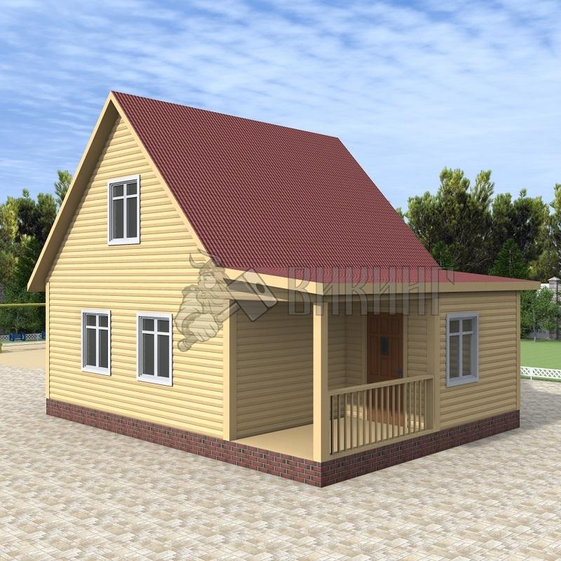 Деревянный дом 6x8 Гамма-26