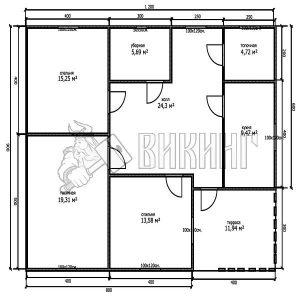План Деревянный дом 9x12