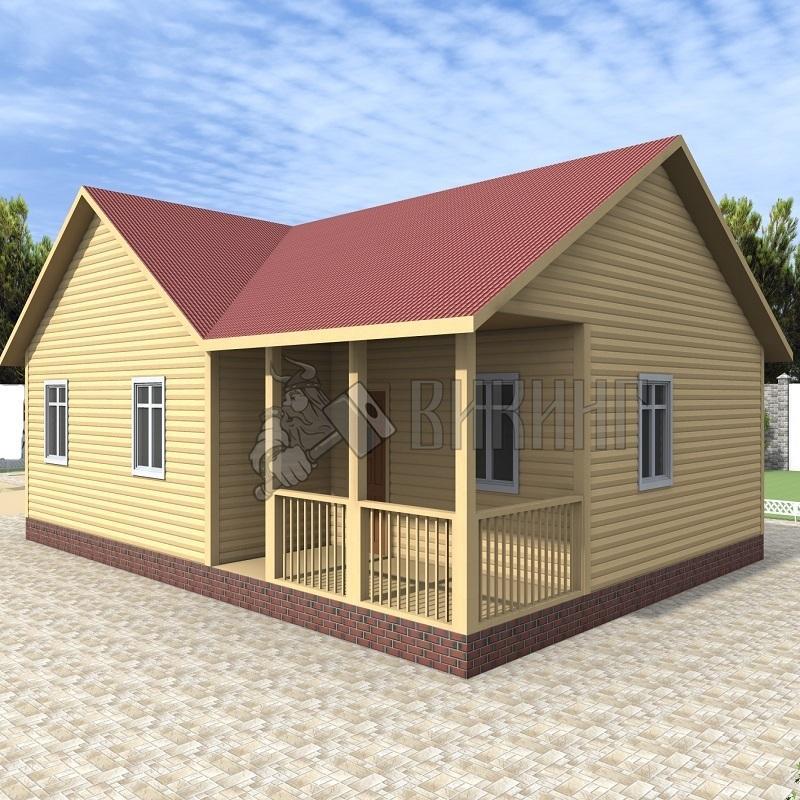 Деревянный дом 9x12