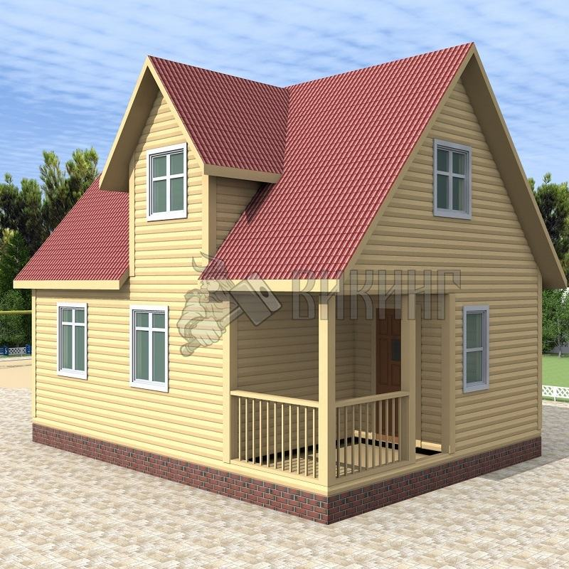 Деревянный дом 6x8 Гамма-42