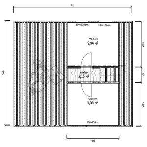Деревянный дом 6x9 Гамма-28 (План мансарды)