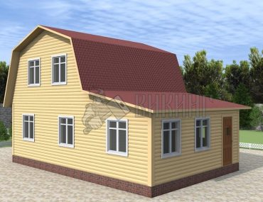 Деревянный дом 6x9 Гамма-28
