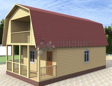 Деревянный дом 6x11 Гамма-29