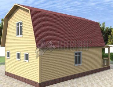 Деревянный дом 6x11 Гамма-30