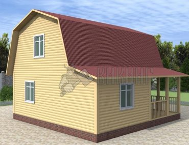 Деревянный дом 7,5x7,5 Гамма-31