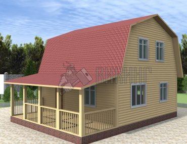 Деревянный дом 7,5x7,5 Гамма-32
