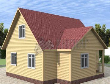 Деревянный дом 7,5x8 Гамма-33