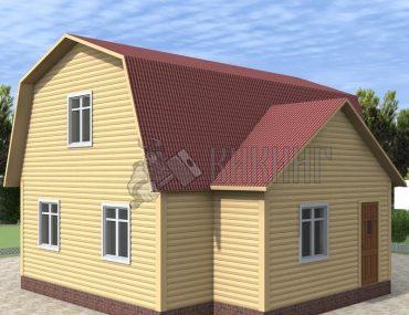 Деревянный дом 7,5x8 Гамма-34