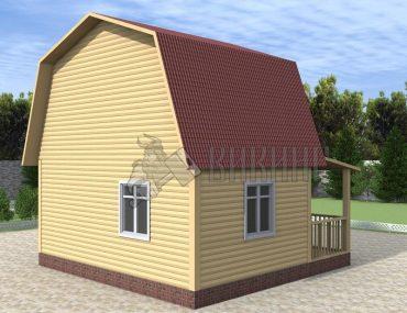Деревянный дом 7x7 Гамма-35