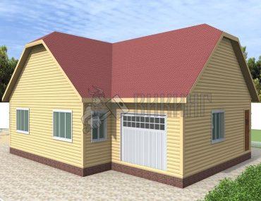 Деревянный дом 10,5x15
