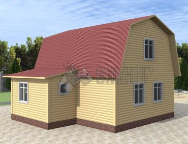 Деревянный дом 7x8 Гамма-36
