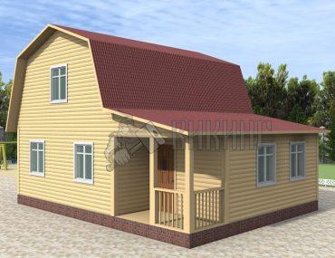Деревянный дом 7x9 Гамма-37