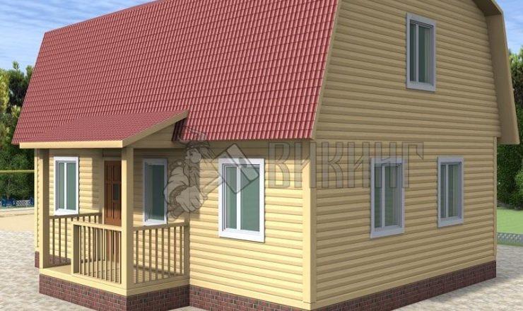 Деревянный дом 7x9 Гамма-45