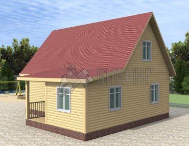 Деревянный дом 8,5x9 Гамма-38