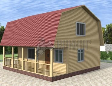 Деревянный дом 8x8 Гамма-39