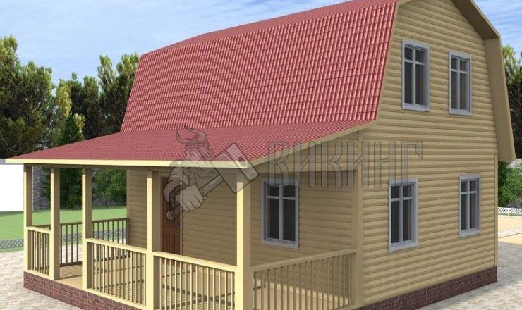 Деревянный дом 8x9 Гамма-40
