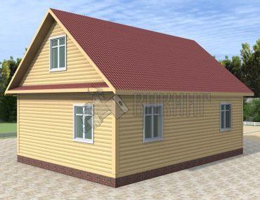 Деревянный дом 9x9 Гамма-41