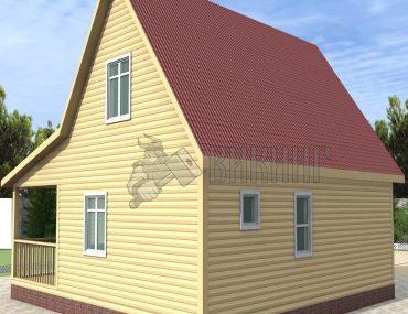 Деревянный дом 9x9 Гамма-43